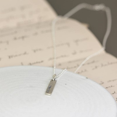 Personalised 18CT White Gold Tag Necklace