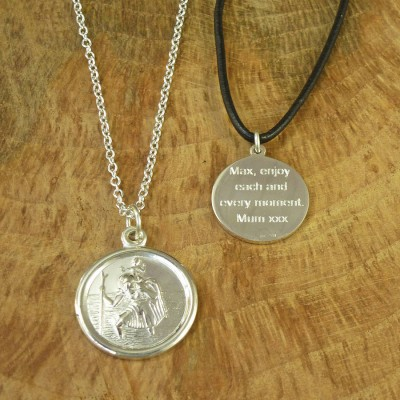 St Christopher 18CT Gold Necklace