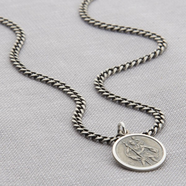 Personalised 18CT Gold St Christopher Necklace