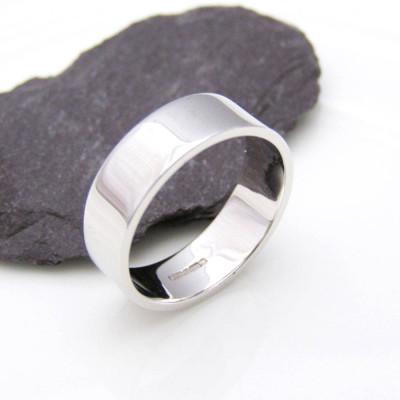 Personalised 18CT White Gold Wedding Ring