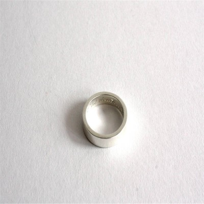Band Solid White Gold Ring