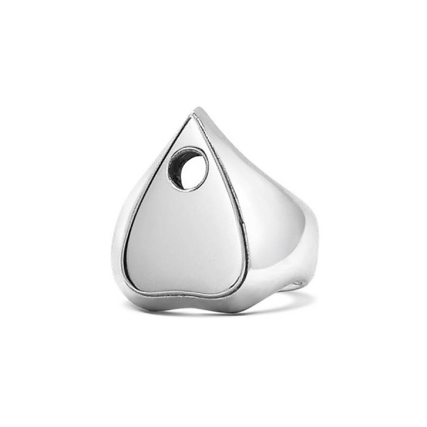 Planchette Solid White Gold Ring