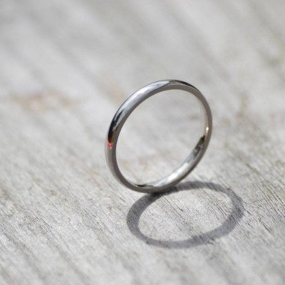 18CT White Gold Wedding Band Wedding Ring