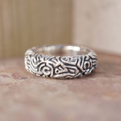 Reef Solid White Gold Ring