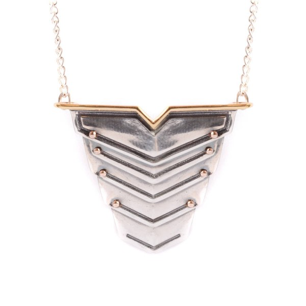 Romeo Name Necklace Rose Gold Vermeil