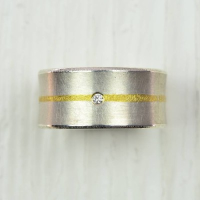 And Fused Gold Diamond Ring