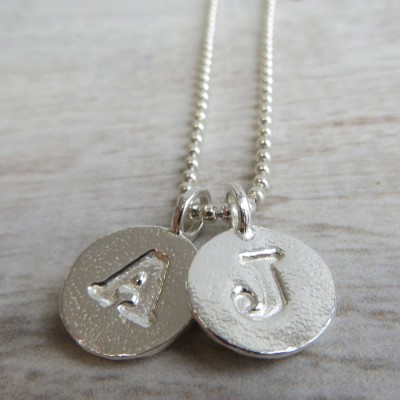 Solid Gold Letter Charm And Ball Chain Name Necklace