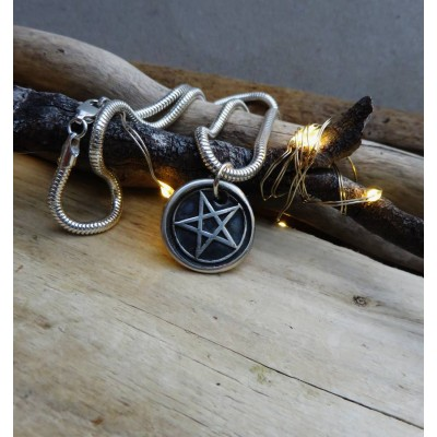 Solid Gold Pentacle Pendant