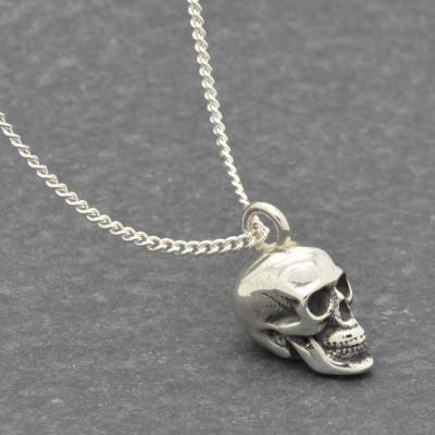 Solid Gold Skull Pendant