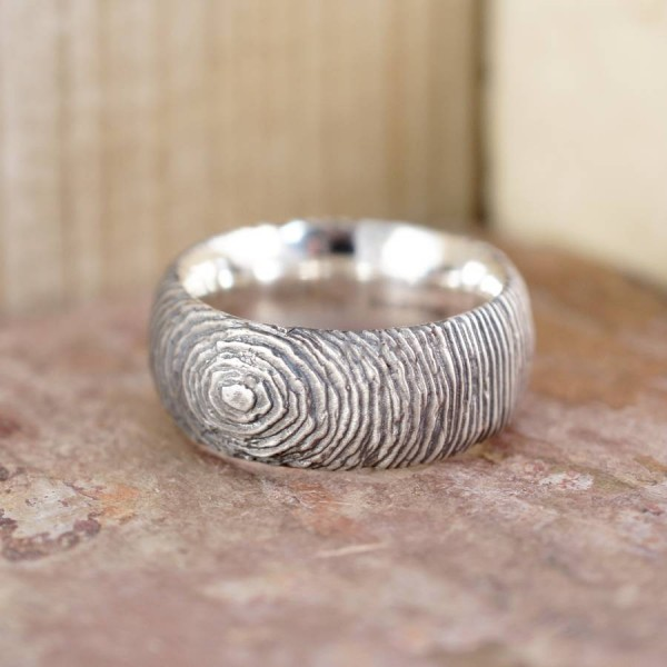Slate Solid White Gold Ring