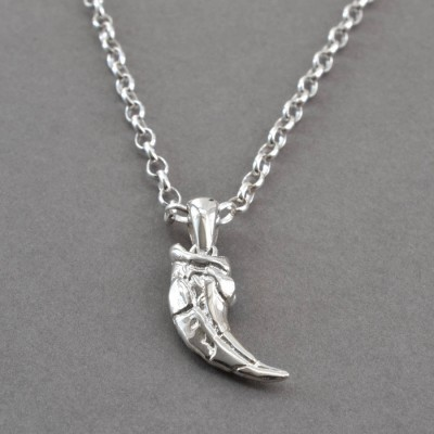 18CT White Gold Raptor Claw Pendant