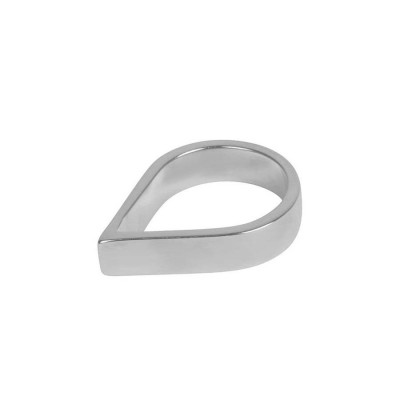 18CT White Gold Wide Point Ring