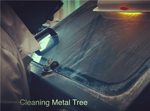 Cleaning Metal Tree