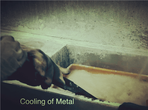 cooling of metal