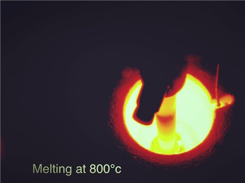 Melting-metal-at-high-temperature